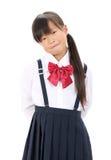 Little asian schoolgirl Royalty Free Stock Image