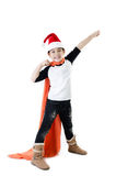 Little asian smile boy with santa hat Stock Photography