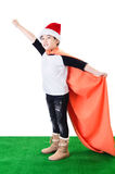 Little asian smile boy with santa hat Royalty Free Stock Images