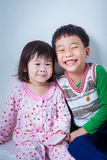Little asian (thai) children happily Royalty Free Stock Photo