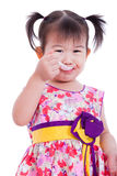 Little asian (thai) girl smiling and enjoy eating Stock Images