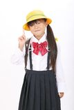 Little asiatisk schoolgirl Royaltyfri Foto