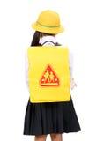Little asiatisk schoolgirl Arkivfoto