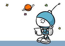 Little Astronaut planet research Stock Photography