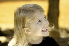 Little Autumn Girl Stock Photo