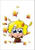 LITTLE AUTUMN GIRL Stock Image