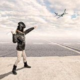 Little aviator Stock Photography