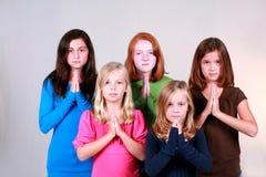 little bön säger dig Arkivfoton