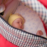 Little baby. In baby carriage Royalty Free Stock Photography