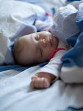 Little Baby. In the bed Stock Photos