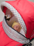 Little baby. In baby carriage Royalty Free Stock Photo