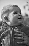 Little baby. In parent's hands Stock Image