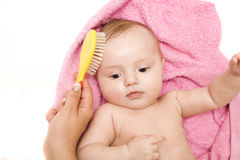Little Baby After Bath Stock Photography