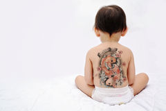 Little baby back - tattoo Royalty Free Stock Photo