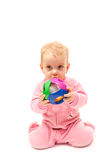 Little baby with ball Royalty Free Stock Photo