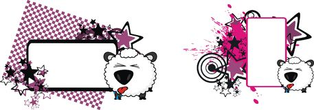 Little baby ball sheep cartoon expression copyspace set. Cute baby ball sheep cartoon expression copyspace set in vector format very easy to edit Royalty Free Stock Photos