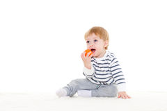 Little baby with ball. Stock Photos