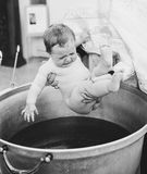 Little Baby Baptism in Church Royalty Free Stock Photography