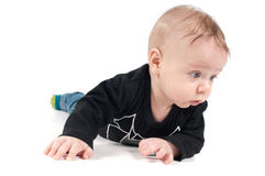 Little baby in black top Stock Photography