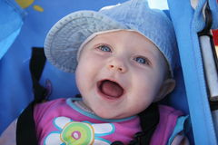 Little Baby Blue with Hat Stock Photos