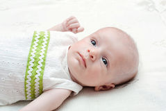 The little baby boy. Portrait of a little baby boy Royalty Free Stock Images
