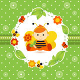 Baby boy bee. Little baby boy as a bee vector illustration