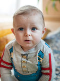 Little baby boy at home Royalty Free Stock Photography