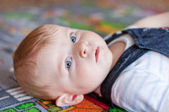 Little baby boy with blue eyes Royalty Free Stock Photography