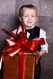 Little baby boy with Cristmas gift Stock Image