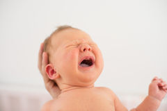 Little baby boy crying Royalty Free Stock Photos