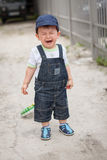 Little baby boy crying Stock Image