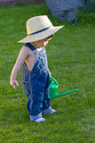 Little baby boy gardener Royalty Free Stock Image