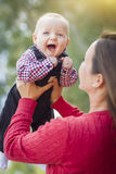 Little Baby Boy Having Fun With Mommy Outdoors Stock Image