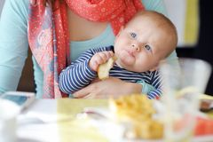 Little baby boy stock photo