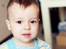 Little baby boy at home Royalty Free Stock Images