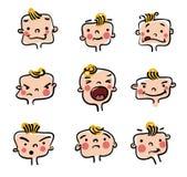 Little baby boy  illustration Royalty Free Stock Photos