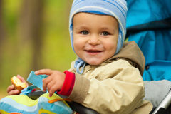 Little baby boy in the park Stock Photography