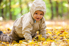 Little baby boy in the park Royalty Free Stock Photos