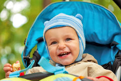 Little baby boy in the park Stock Photo