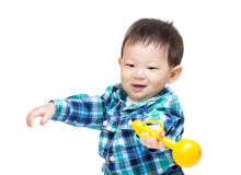 Little baby boy play with toy Stock Photos