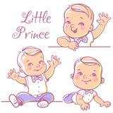 Little baby boy set. stock illustration