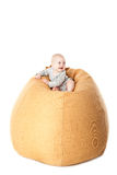 Little baby boy sitting in bean bag Stock Photography