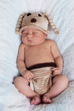 Little baby boy, sleeping Stock Photography