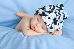 Little baby boy, sleeping Royalty Free Stock Photography