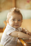 Little baby boy. Little smiling baby boy portrait Royalty Free Stock Photos