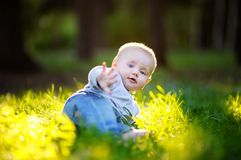 Little baby boy Stock Photos