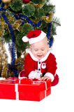 Little baby boy wearing Santa's costume Royalty Free Stock Photo