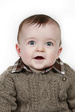 Little Baby Boy on white taken closeup Stock Image