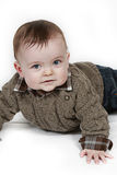 Little Baby Boy on white taken closeup Royalty Free Stock Photo