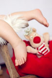 Little baby boys feet Stock Images